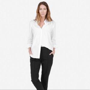 EVERLANE White Long Sleeve Button Down Shirt Sz 12